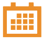 Calendar icon - transparent orange